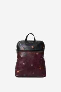 Zweifarbiger Rucksack aus Kunstleder