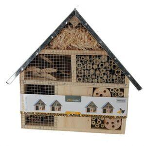 Insektenhotel mit Dach - breit