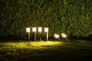 Duracell LED Niedervolt Gartenlampen 6er-Set inkl. Netzadapter, braun matt