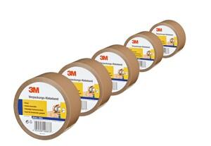 3M Verpackungs-Klebeband, Braun - 5er-Set