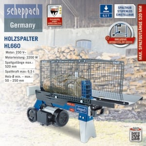 Scheppach HL 660 6,5 T Holzspalter