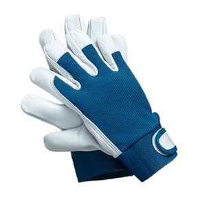 "Powertec Garden Ziegenleder Handschuhe ""U-Comfort"", Größe 10 - Blau"