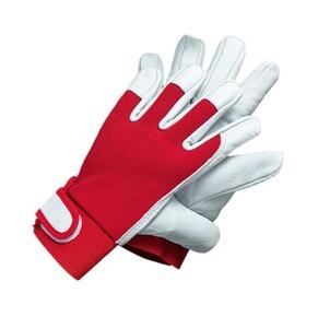 "Powertec Garden Ziegenleder Handschuhe ""U-Comfort"", Größe 9 - Rot"