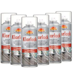 Carfit Klarlack Spray 6er Set