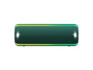 Sony Mobiler Lautsprecher SRS-XB32 grün (Bluetooth, kabellos, NFC, farbige Lichtleiste, Extra Bass, Powerbank Funktion, wasserabweisend)
