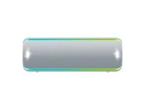 Sony Mobiler Lautsprecher SRS-XB32 grau (Bluetooth, kabellos, NFC, farbige Lichtleiste, Extra Bass, Powerbank Funktion, wasserabweisend)