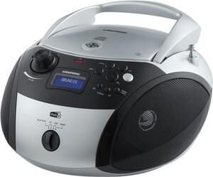 Grundig GRB 4000 BT DAB+ Boombox silber/schwarz (CD-Player, DAB+, Bluetooth, MP3, WMA-Musikwiedergabe)