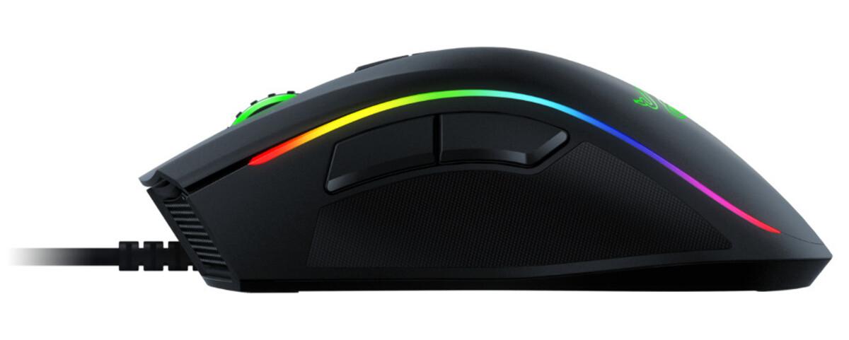 Bild 2 von RAZER Mamba Elite schwarz Gaming-Maus (Optischer 5G-Sensor, Razer Chroma™-Beleuchtungszonen, bis zu 50 Millionen Klicks, 9 programmierbare Tasten)