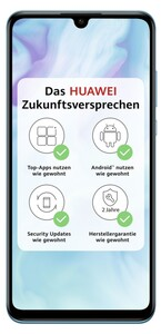 Huawei P30 lite Dual-SIM Peacock Blue Smartphone (6,15 Zoll, 128GB, 3.340-mAh, Octa-Core, 48 MP, Triple-Kamera, blau)