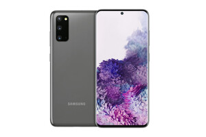 Samsung Galaxy S20 Cosmic Gray Smartphone (6,2 Zoll, 128 GB, 12 MP + 12 MP + 64 MP, Triple-Kamera, 4.000-mAh, Octa-Core, Fingerabdrucksensor, Grau)