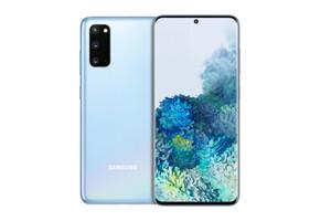 Samsung Galaxy S20 Cloud Blue Smartphone (6,2 Zoll, 128 GB, 12 MP + 12 MP + 64 MP, Triple-Kamera, 4.000-mAh, Octa-Core, Fingerabdrucksensor, Blau)