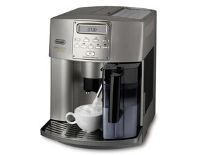 DELONGHI Kaffeevollautomat ESAM 3500 Vollautomat silber (Kegelmahlwerk, Milch-Behälter, Milch-Kanne, Display, one-touch)