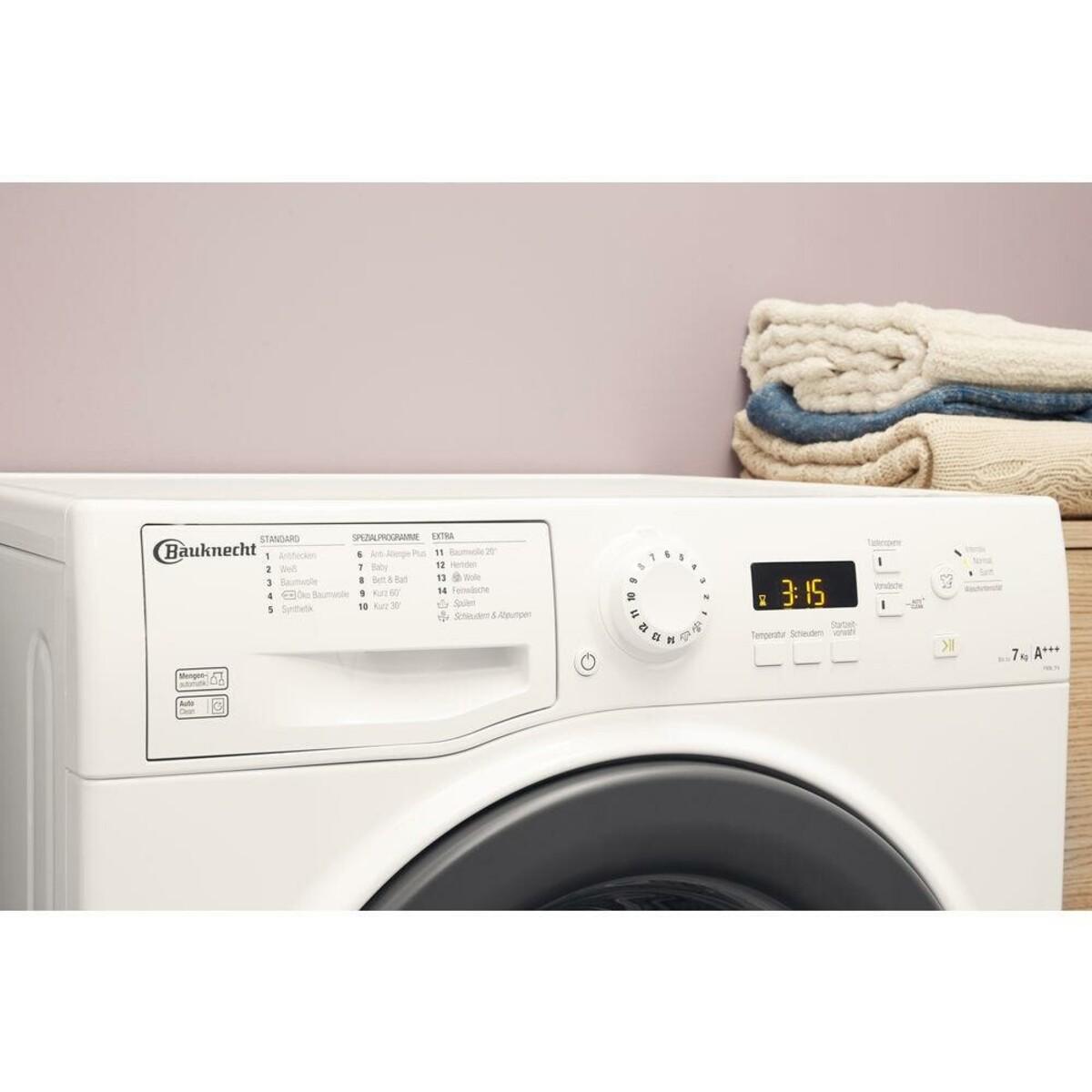 Bild 5 von BAUKNECHT FWM 7F4 Waschmaschine (7 kg, 1400 U/min., A+++, Wolle, Anti-Allergie)
