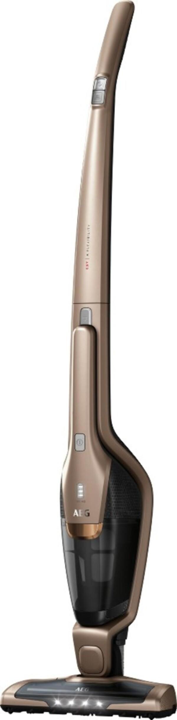 AEG CX7-2-S360 Akku-Handstaubsauger mit Stiel (kabellos, beutellos, 2-in-1, Lithium HD Power Akku, 0,5 Liter Staubbehältervolumen, 180°-EasySteer™-Manövrierbarkeit, Deep Clean)