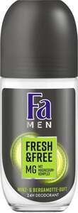 Fa Men Fresh & Free Deo Roll-On Minz- & Bergamotten Duft