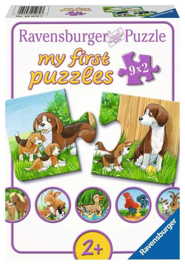 Ravensburger Tierfamilien auf dem Bauernhof Kinderpuzzle