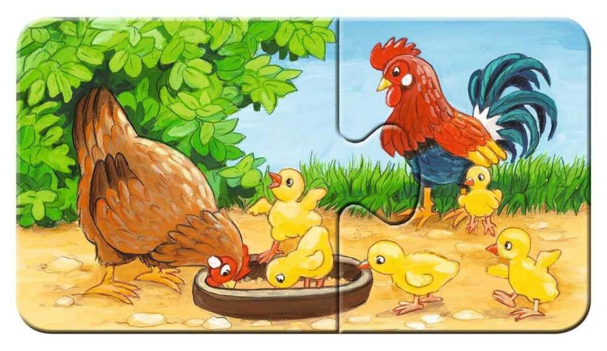 Bild 3 von Ravensburger Tierfamilien auf dem Bauernhof Kinderpuzzle