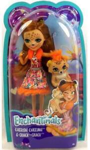 Mattel Enchantimals Cherish Cheetah & Quick-Quick Puppe