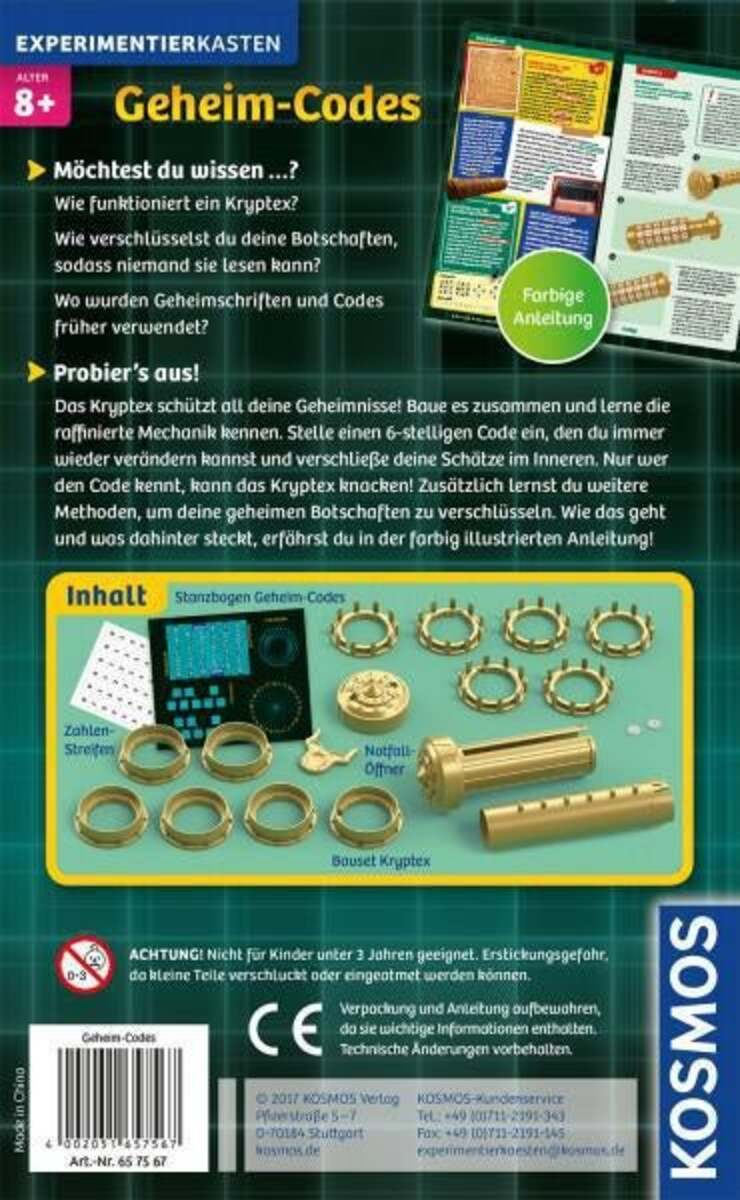 Bild 2 von Kosmos Geheim-Codes Bau dein eigenes Kryptex!