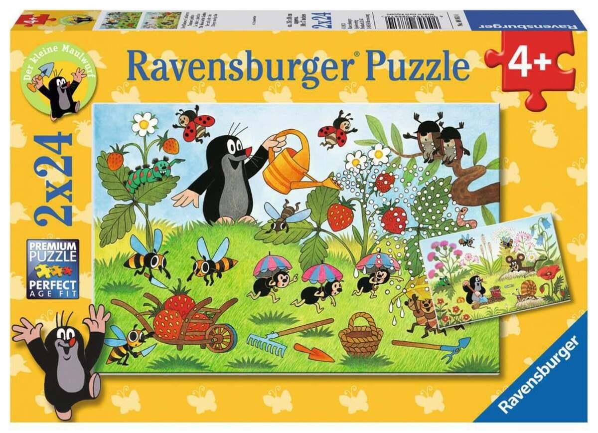 Bild 1 von Ravensburger Der Maulwurf im Garten Kinderpuzzle 2x24 Teile