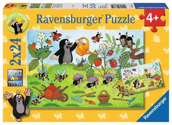Ravensburger Der Maulwurf im Garten Kinderpuzzle 2x24 Teile