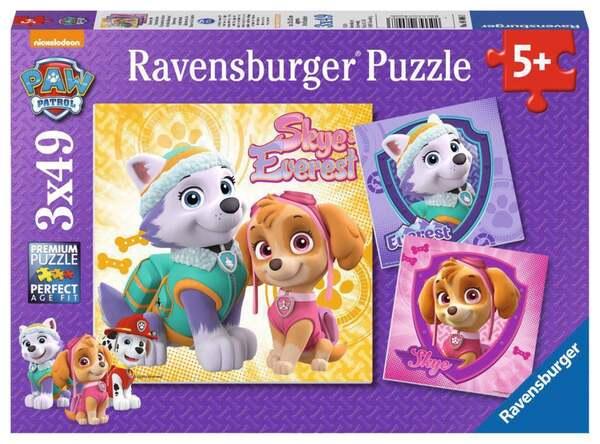 Ravensburger Paw Patrol Bezaubernde Hundemädchen Kinderpuzzle 3x49 Teile