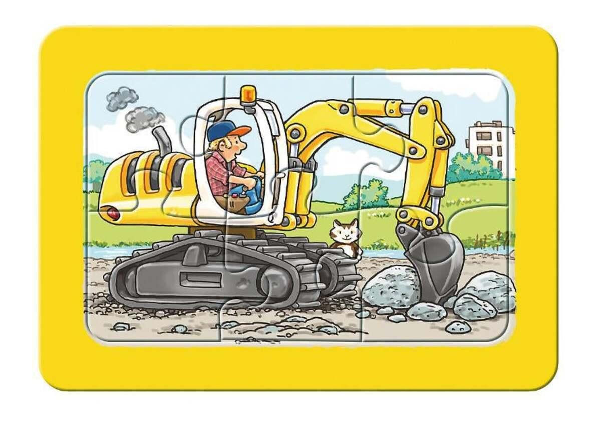 Bild 2 von Ravensburger 3er Set Puzzle mit Rahmen, Bagger, Traktor und Kipplader