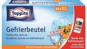 Toppits® Gefrierbeutel Standboden 1L