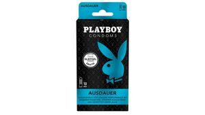 PLAYBOY CONDOMS AUSDAUER Kondome mit 4 Gleitgel Sachets