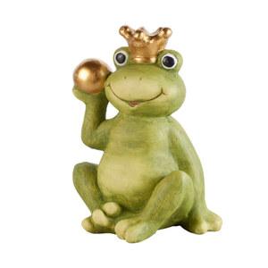 Frosch mit Krone und Kugel 30 x 21 x 39 cm