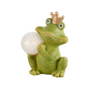 ProVida Frosch mit LED Kugel und Krone
