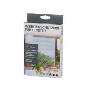 ProVida Insektenschutz für Fenster in Weiß 130 x 150 cm
