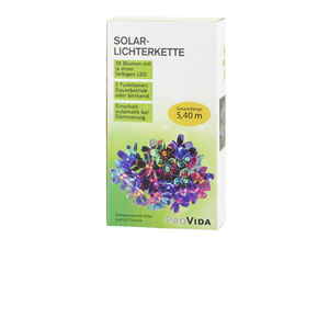"ProVida Solarlichterkette ""Blume"" in Bunt mit 35 LEDs"