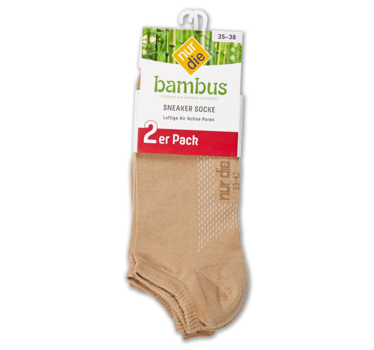 Bild 2 von NUR DIE oder NUR DER Damen- oder Herren-Bambus-Sneakersocken