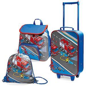 Spirit of colours Kinder Reiseset, 3-teilig, verschiedene Ausführungen - Feuerwehr, rot