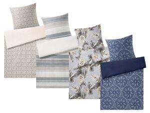 MERADISO® Satin Bettwäsche, 135 x 200 cm, mit Reißverschluss, aus reiner Baumwolle