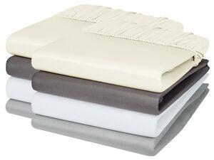 MERADISO® Satin Spannbettlaken, 2 Stück, 90-100 x 200 cm, aus reiner Baumwolle