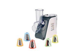 SILVERCREST® 5-in-1-Gemüseraspel, elektrisch, 150 Watt, 5 Einsätze, spülmaschinengeeignet