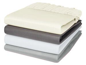 MERADISO® Satin Spannbettlaken, 180-200 x 200 cm, einlaufsicher, aus reiner Baumwolle