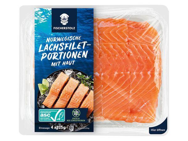 ASC Norwegische Lachsfilet-Portionen