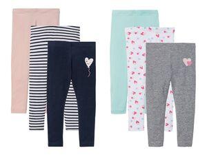 LUPILU® Kleinkinder Leggings Mädchen, 3 Stück, optimale Passform, mit Bio-Baumwolle