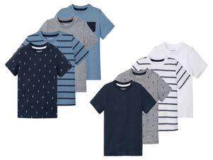 LUPILU® Kleinkinder T-Shirts Jungen, 4 Stück, Schulterknöpfung, mit Bio-Baumwolle