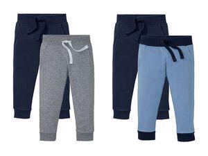 LUPILU® Kleinkinder Sweathosen Jungen, 2 Stück, elastischer Bund, mit Bio-Baumwolle