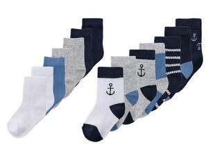 LUPILU® Kleinkinder Socken Jungen, 7 Paar, optimale Passform, mit Bio-Baumwolle