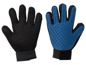 ZOOFARI® Handschuh zum Bürsten, mit Noppen, mit Klettverschluss, geeignet für alle Felllängen