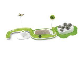 ZOOFARI® Katzenspielzeug, mit Spielschiene, Spielball, Butterfly oder Futternapf