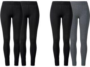 ESMARA® Leggings Damen, 2 Stück, elastischer Bund, mit Baumwolle und Elasthan