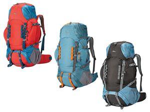 CRIVIT® Backpack, Reiserucksack, 60 + 10 l Volumen, Mesh-Polsterung, Trekking