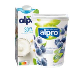 Alpro Soya-Drink, Haferdrink, Reis-Drink oder
