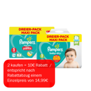 Pampers Dreier-Pack